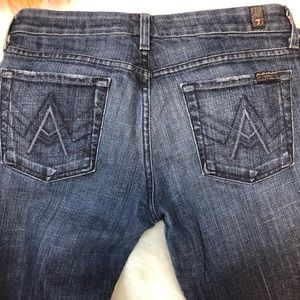 7 For All Mankind A Pocket Bootcut Jeans 28